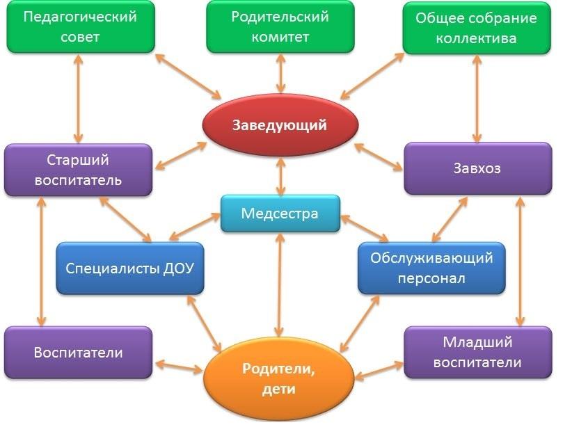Структура и органы управления детским садом 44